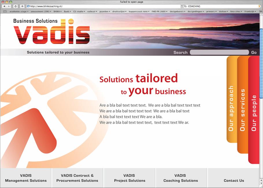 Vadis_homepage